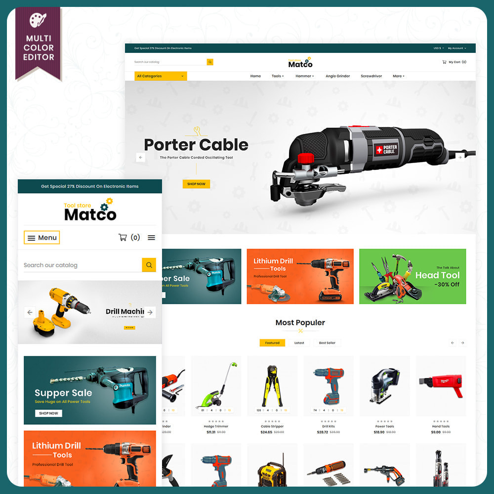 theme - Automotive & Cars - Utensili–Matco–Tools Super Store - 1