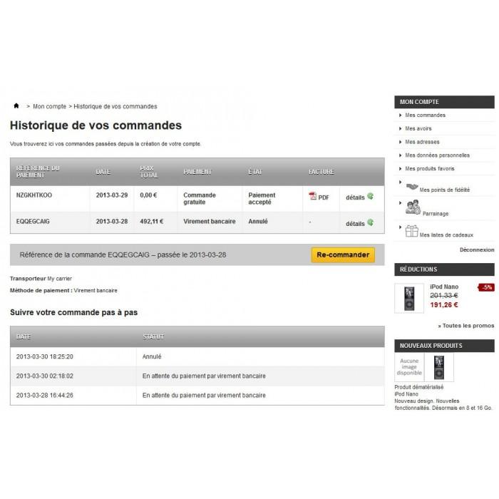 module - Pегистрации и оформления заказа - Cancel Order - 3