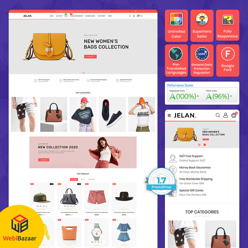 theme - Fashion & Shoes - Jelan - The Best Fashion Store - 1