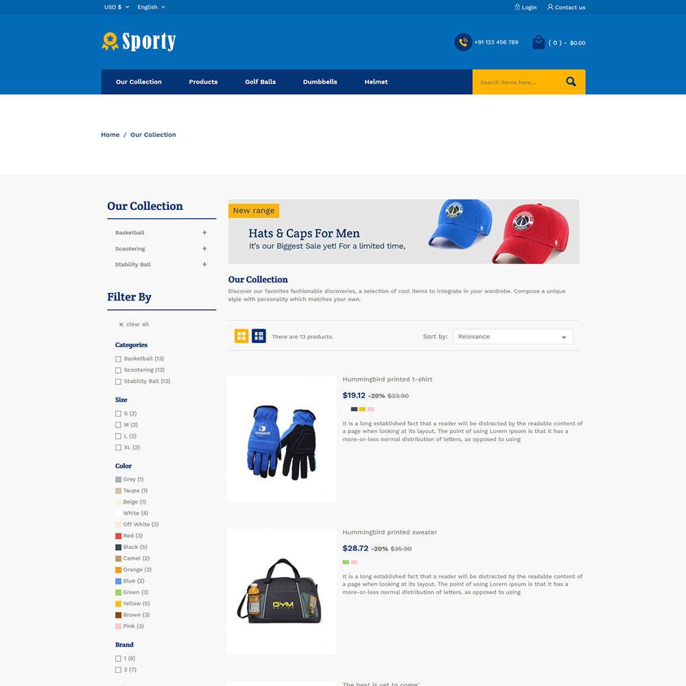 theme - Desporto, Actividades & Viagens - Sportswear Fashion - Travel Designer Store - 4