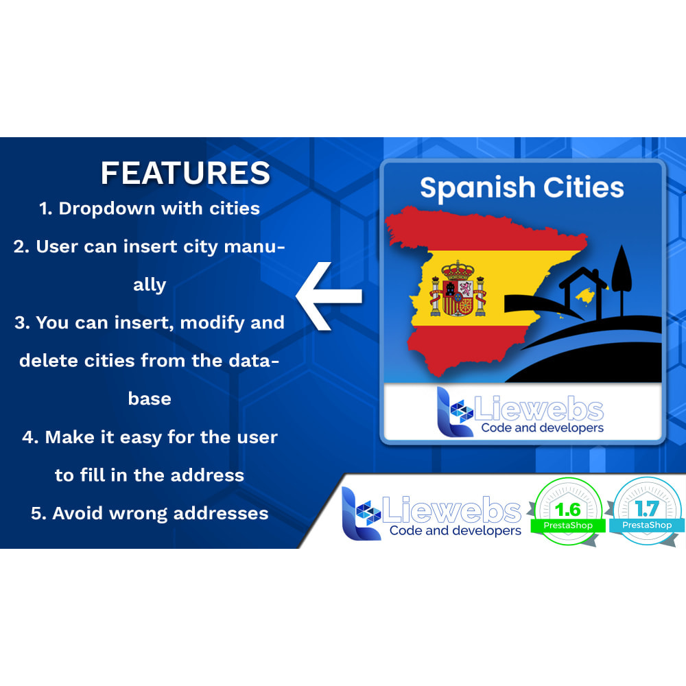 module - International & Localization - Spanish Cities (Spanish cities, towns, villages) - 2
