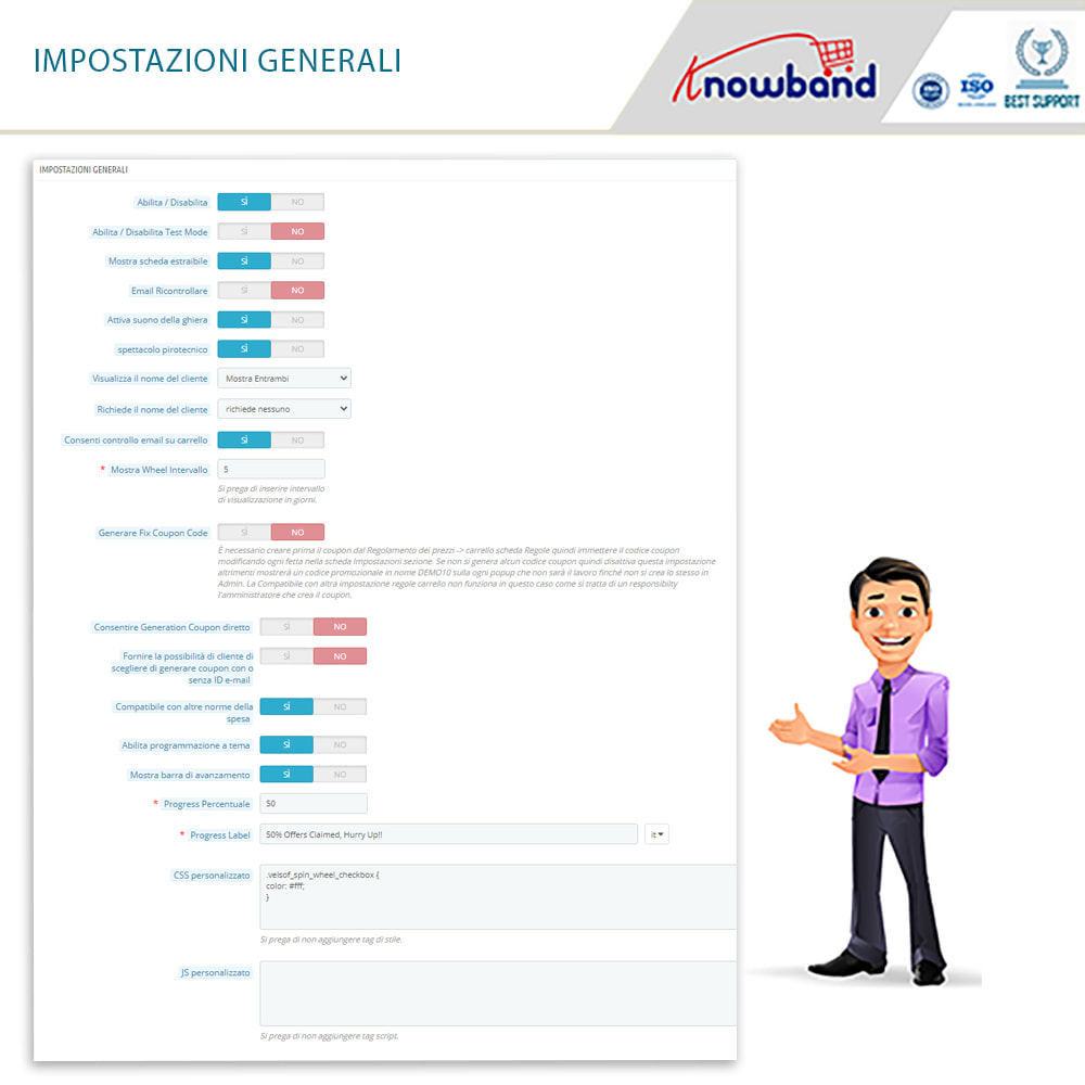 module - Promozioni & Regali - Knowband-Entry,Exit and Subscription Popup-Spin and Win - 7