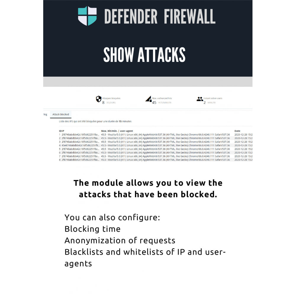 module - Security & Access - Defender - The firewall to protect your shop - 4