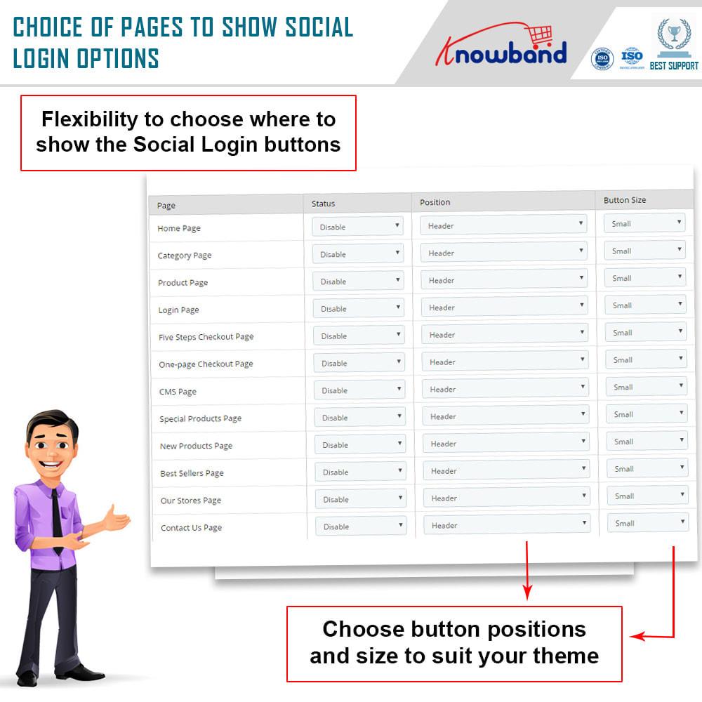 module - Login & Verbinden - Knowband-Social Login 14 in 1,Statistiken und Mailchimp - 3
