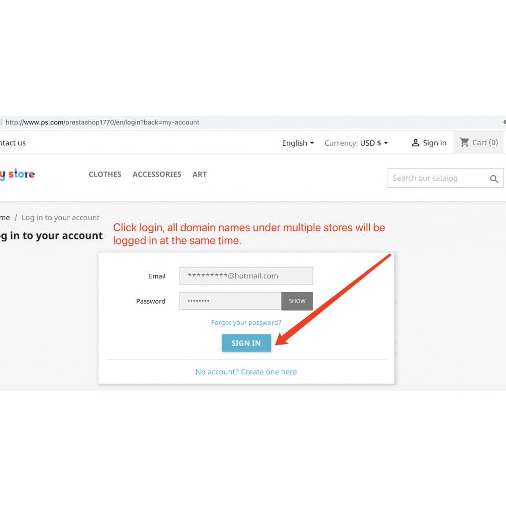 module - Customer Service - Customers multi-store single sign-on(SSO) shared login - 4