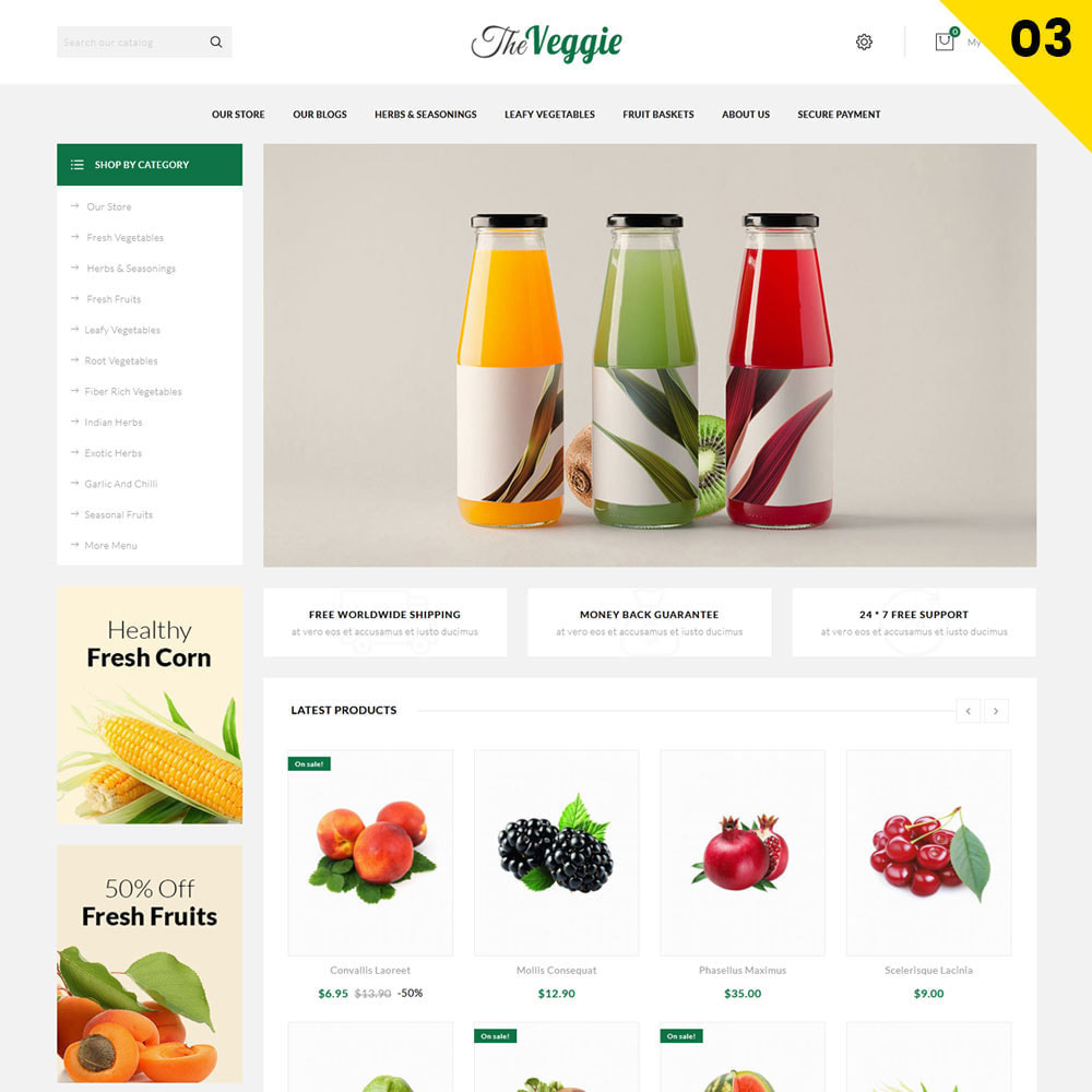 theme - Food & Restaurant - Veggie  - The Organic Store - 5