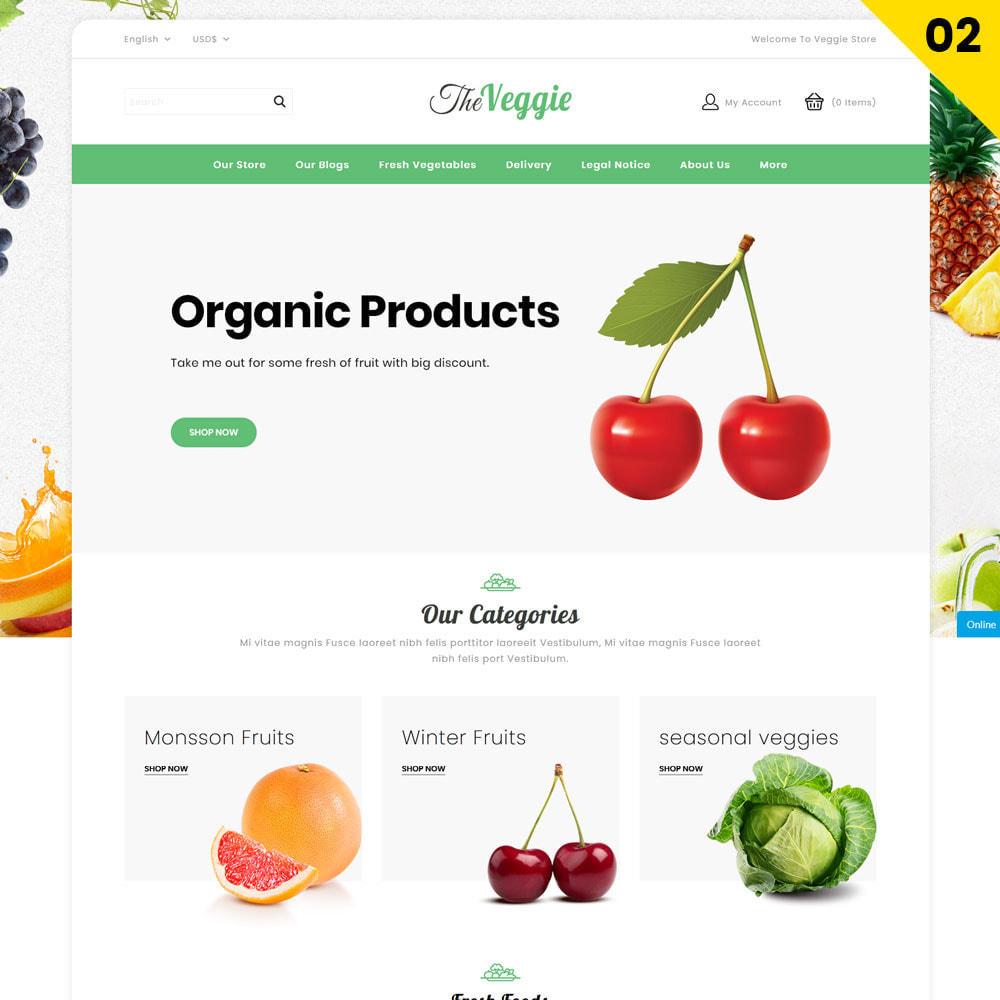 theme - Gastronomía y Restauración - Veggie - La tienda de productos orgánicos - 4