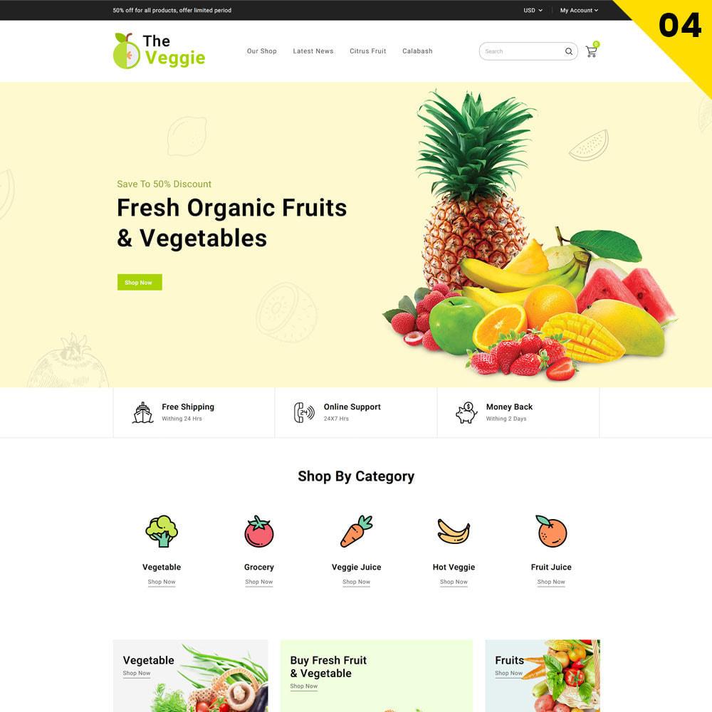 theme - Gastronomía y Restauración - Veggie - La tienda de productos orgánicos - 6