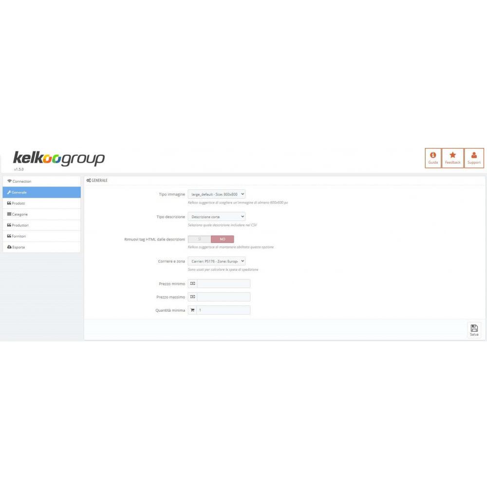 module - Price Comparison - Kelkoo Group Feed Exporter - 1