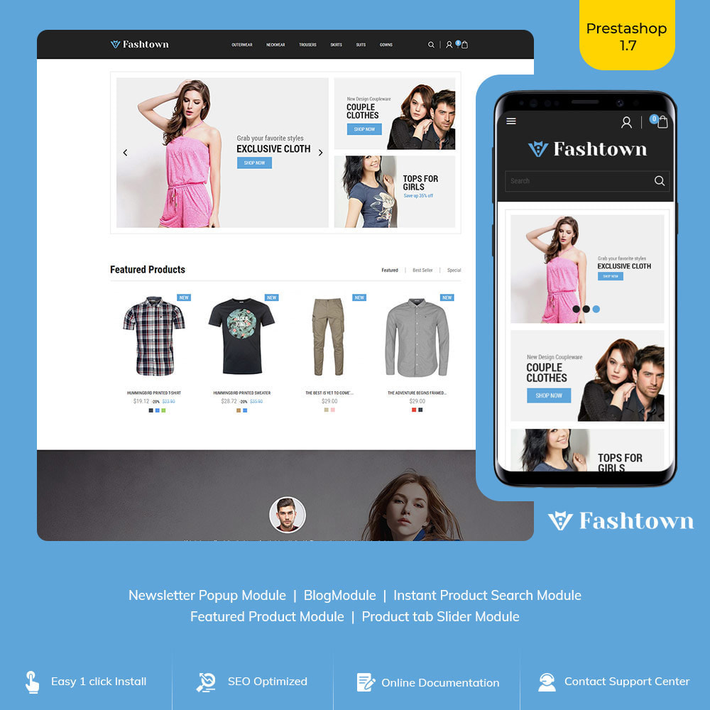 theme - Fashion & Shoes - Fashtown Cloth - Fashion Designer Store - 1