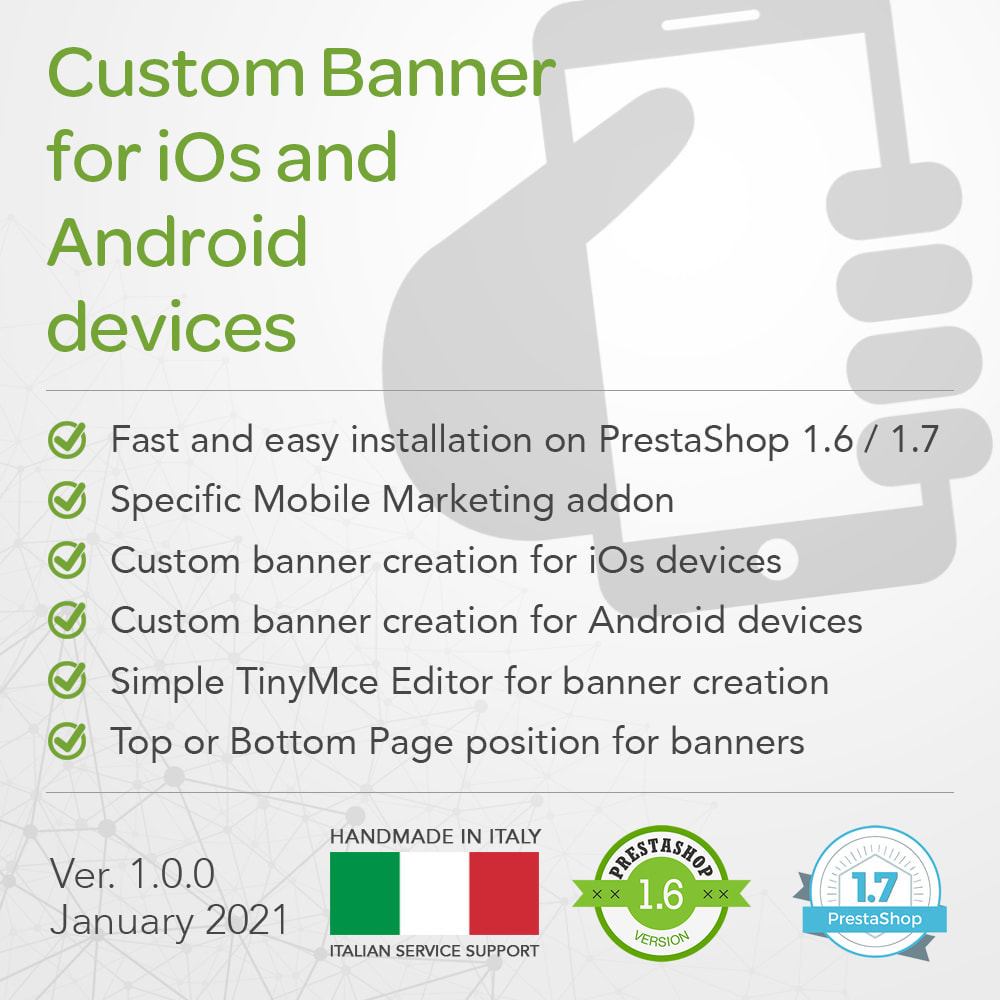 module - Mobile - Mobile Marketing Promotional Banner for iOs or Android - 1