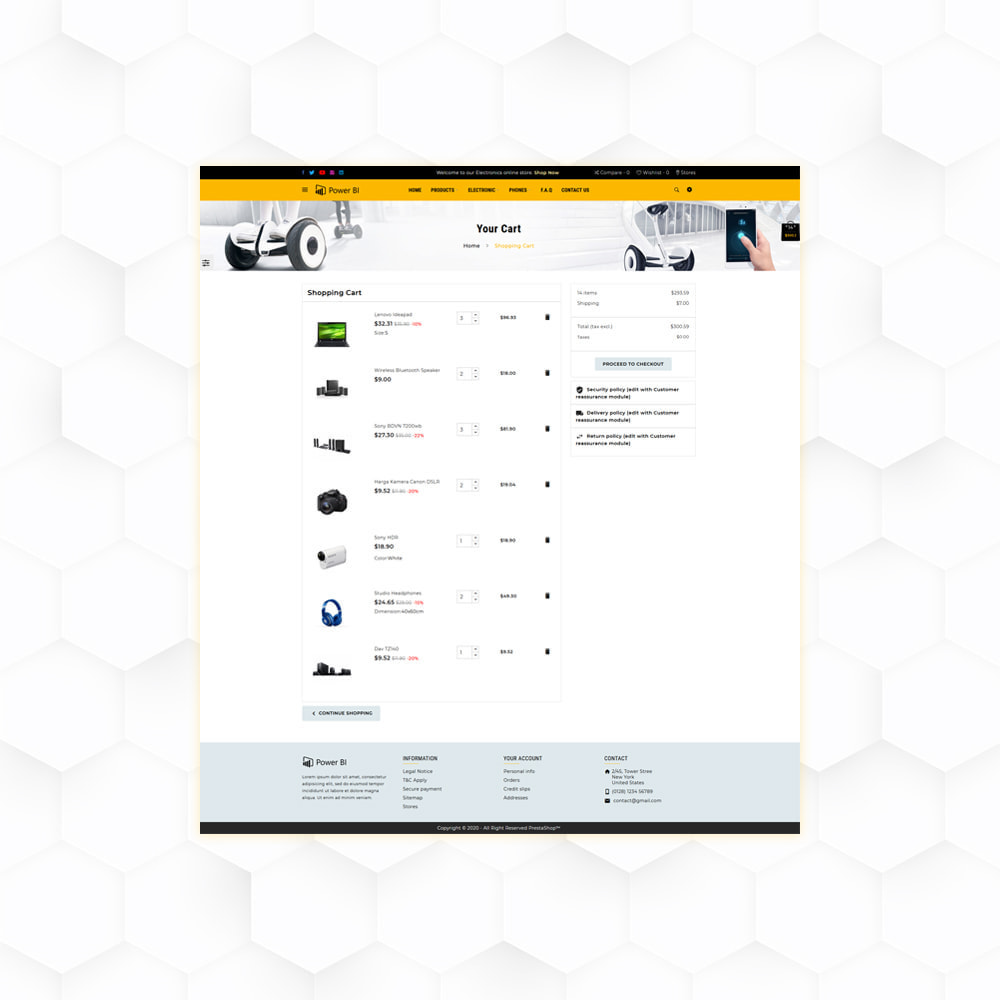 theme - Eletrônicos & High Tech - PowerBI Electronic Store - 6