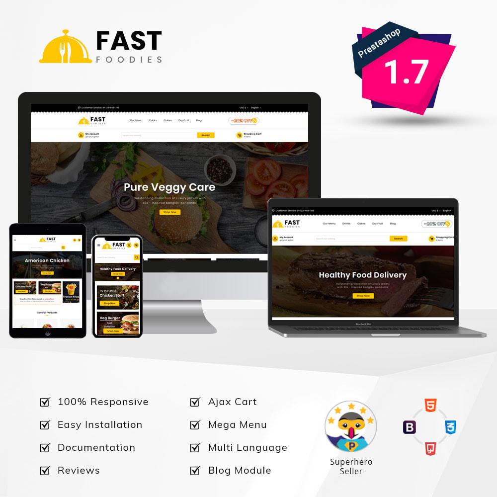 theme - Food & Restaurant - Fast Food - Store - 2