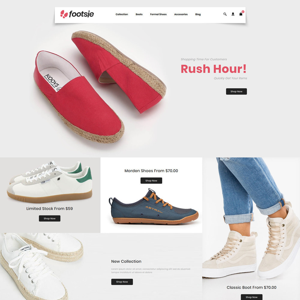 theme - Mode & Chaussures - Foots - Shoes Store - 1