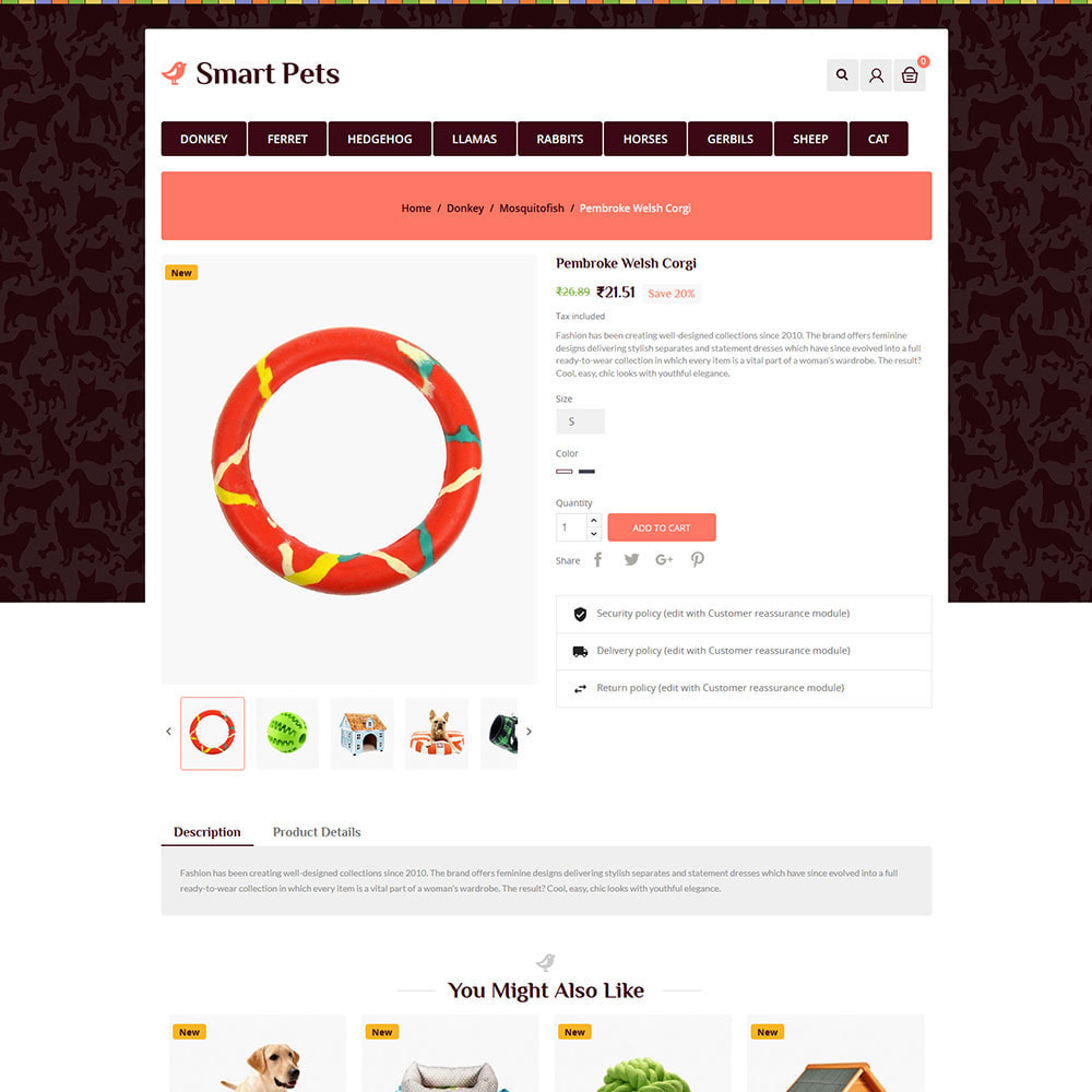 theme - Zwierzęta - Smart Animal - Pet Food Store - 5
