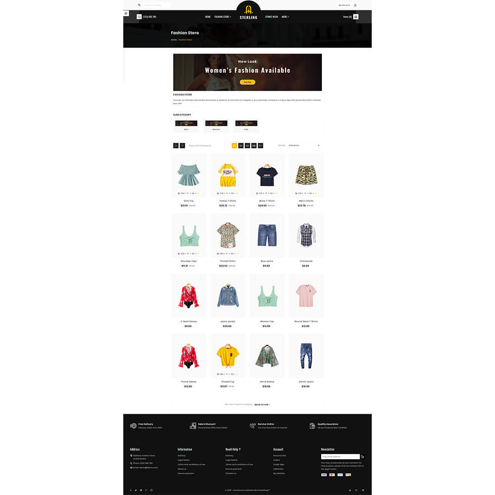 theme - Мода и обувь - Sterling–Fashion Big Store - 3