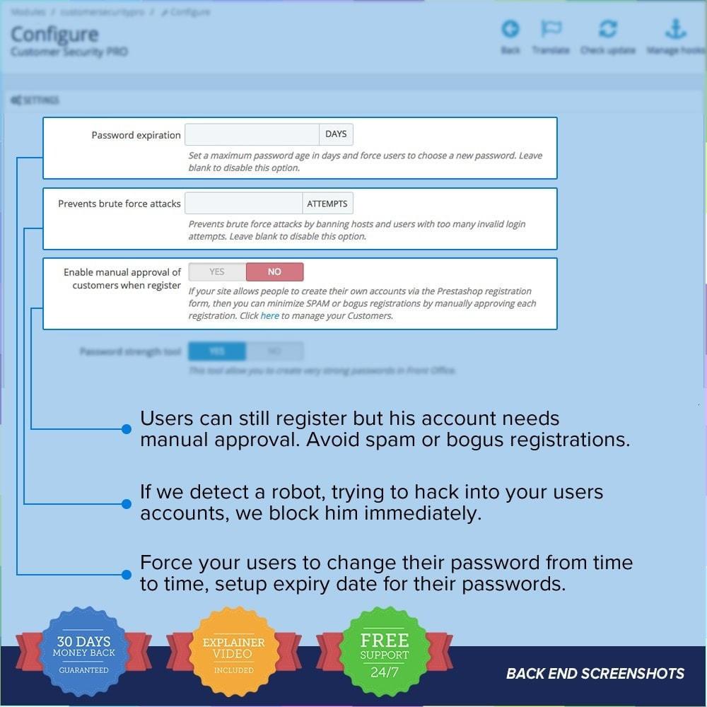 module - Sécurité & Accès - Protéger les clients PRO - 3