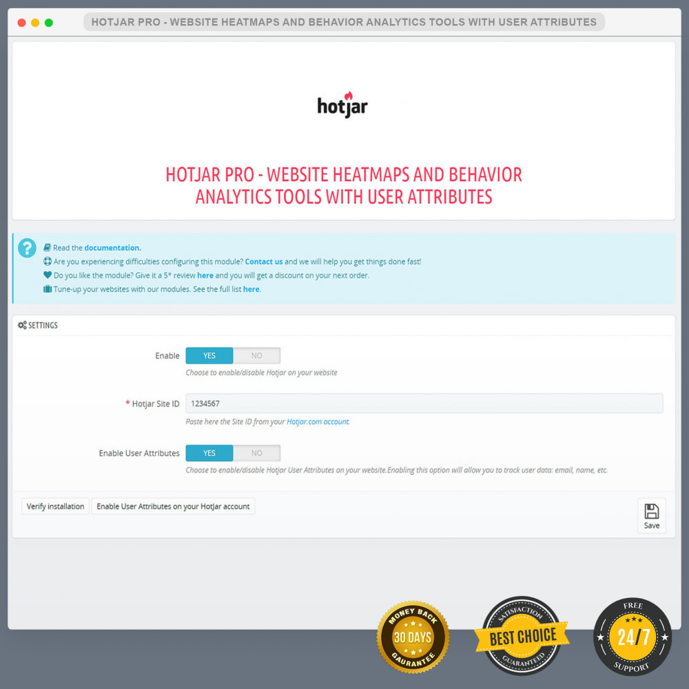 module - Analytics & Statistics - Hotjar PRO - Website Heatmap Tools with User Attributes - 2