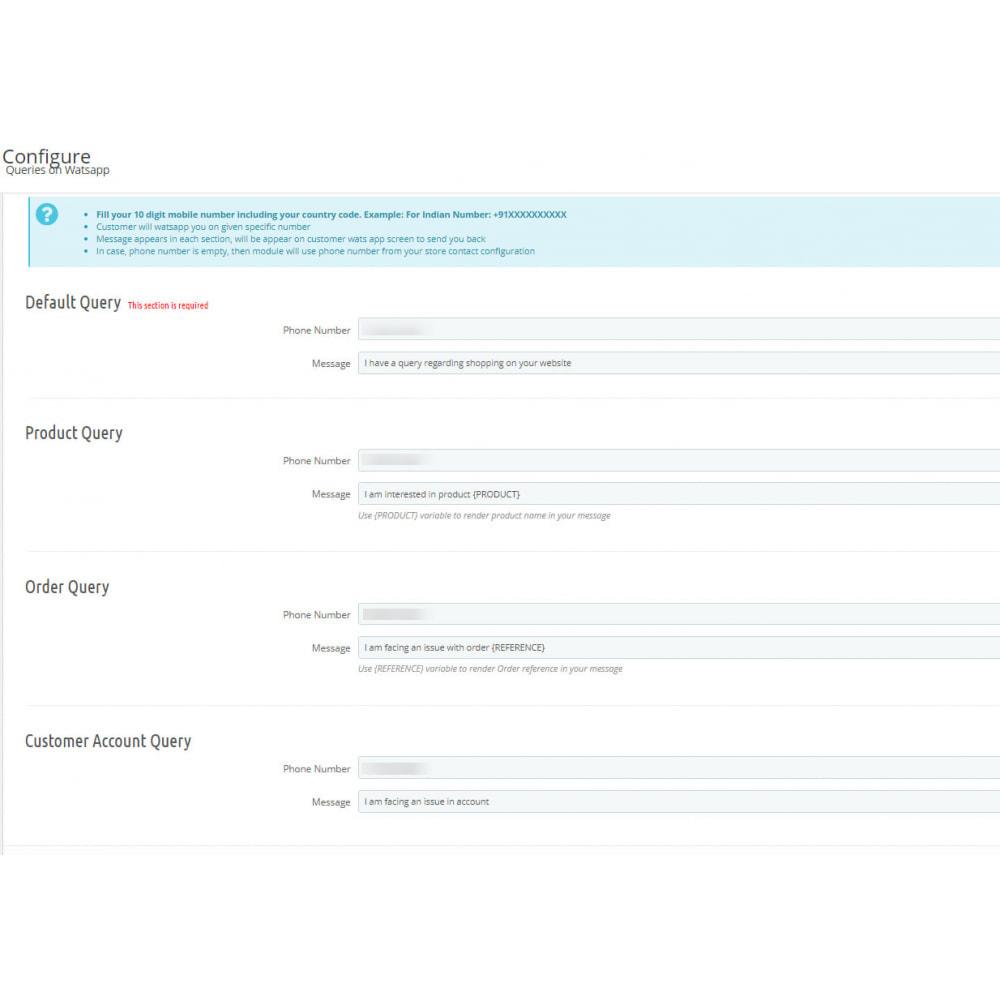 module - Asistencia & Chat online - Queries on Watsapp - 2
