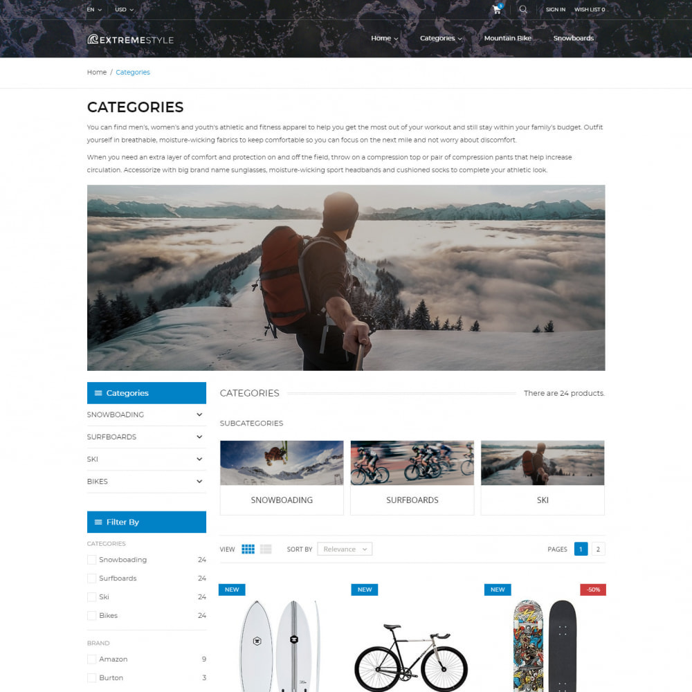 theme - Sport, Loisirs & Voyage - ExtremeLife - Magasin de Sport - 4