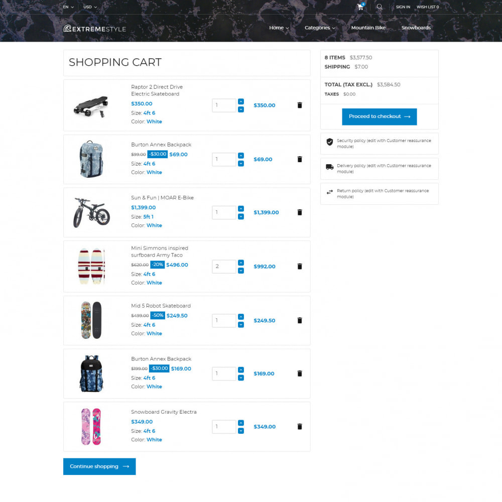 theme - Sport, Loisirs & Voyage - ExtremeLife - Magasin de Sport - 7