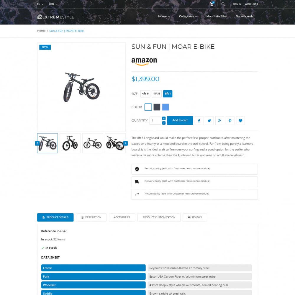 theme - Спорт и Путешествия - ExtremeStyle - Спортивный Магазин - 5