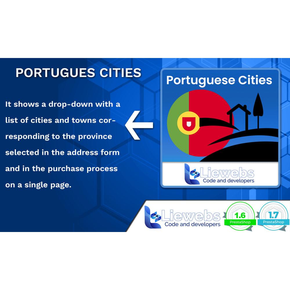 module - Registration & Ordering Process - Portuguese Cities (Portuguese cities, towns, villages) - 1