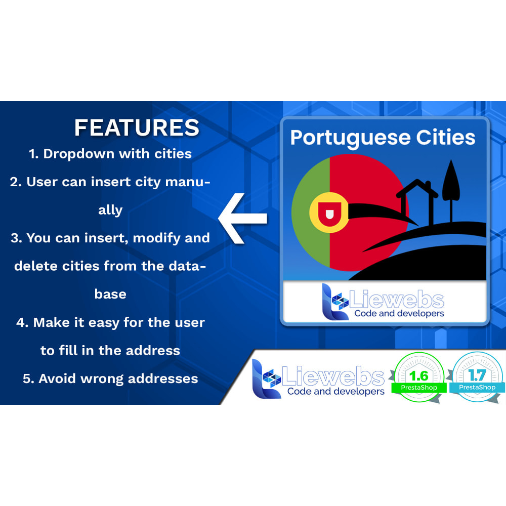 module - Registration & Ordering Process - Portuguese Cities (Portuguese cities, towns, villages) - 2