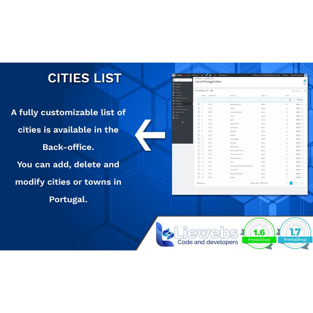 module - Registration & Ordering Process - Portuguese Cities (Portuguese cities, towns, villages) - 4
