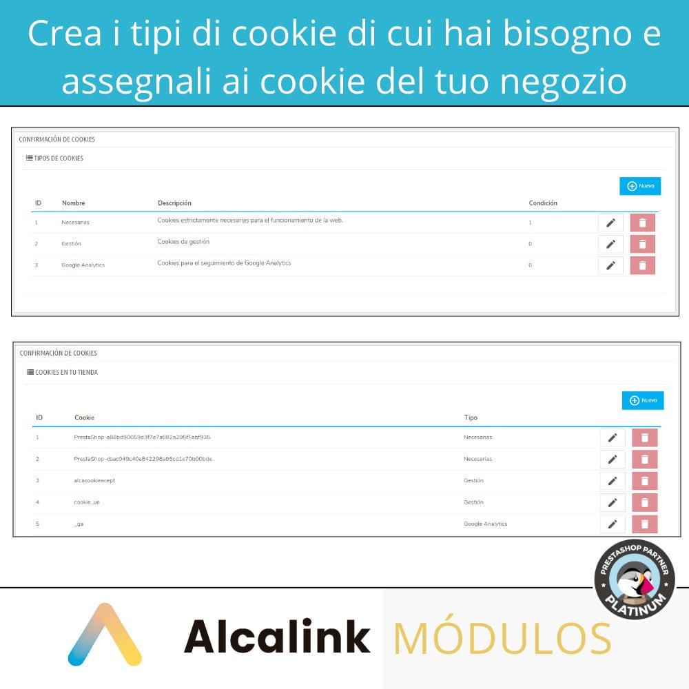 module - Legale (Legge Europea) - Legge sulla configurazione dei cookie - 2021 - 4