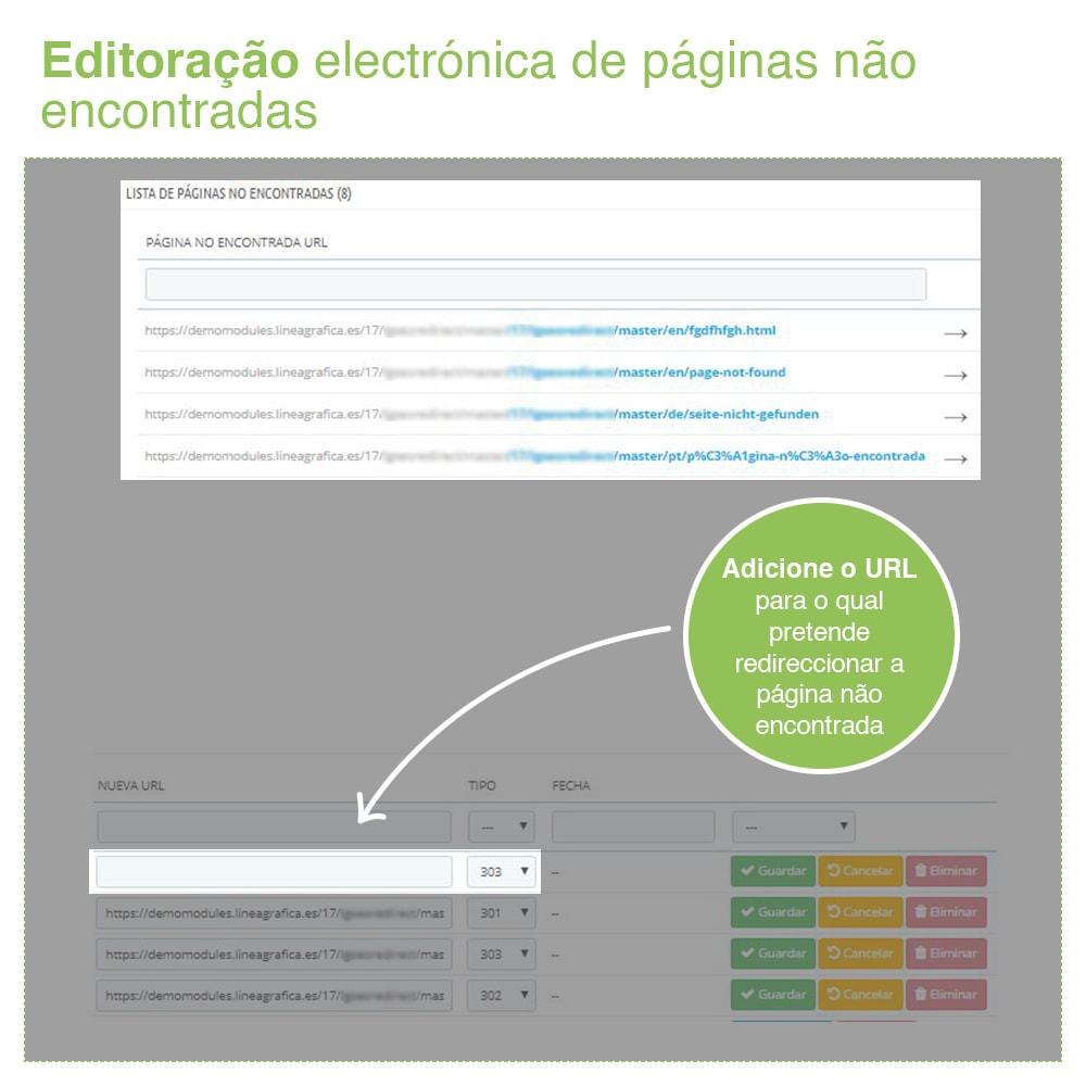 module - Gestão de URL & Redirecionamento - 301, 302, 303 URL Redireciona e 404 – SEO - 7