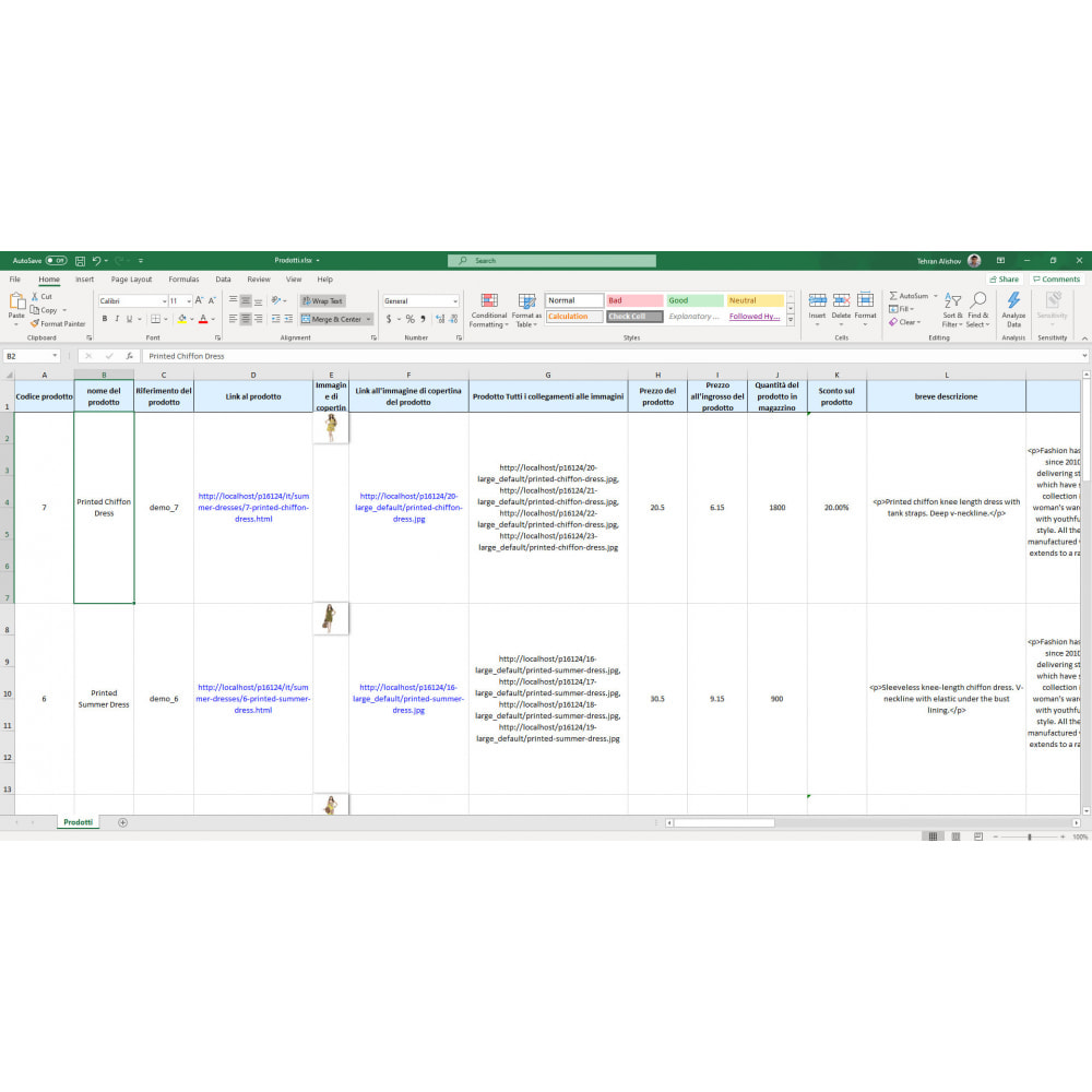 module - Data Import & Export - Esportazione Prodotti (Excel, CSV, XML, Email, FTP) - 7