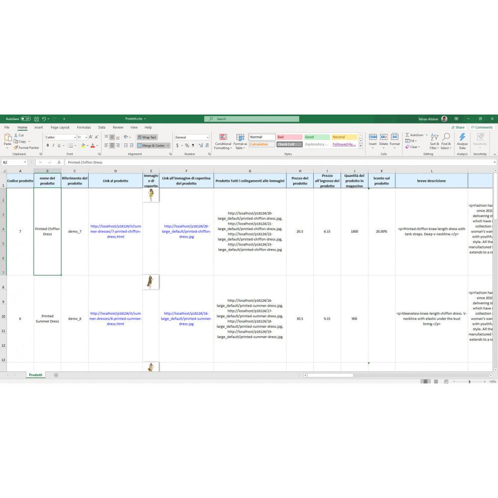 module - Data Import & Export - Esportazione di Prodotti (Excel, CSV, PDF, Email, FTP) - 7