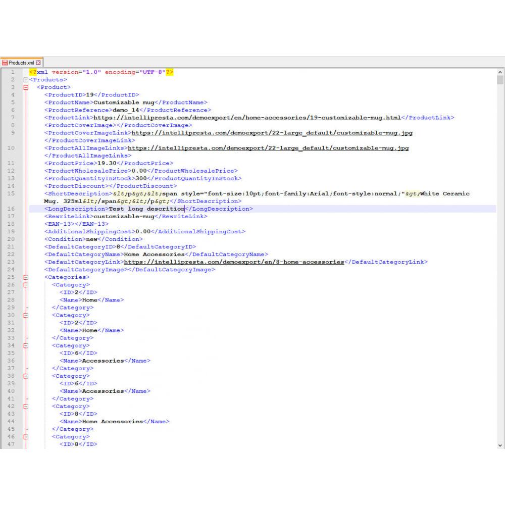 module - Importeren en Exporteren van data - Producten Export (Excel, CSV, XML, Cron, Email, FTP) - 9