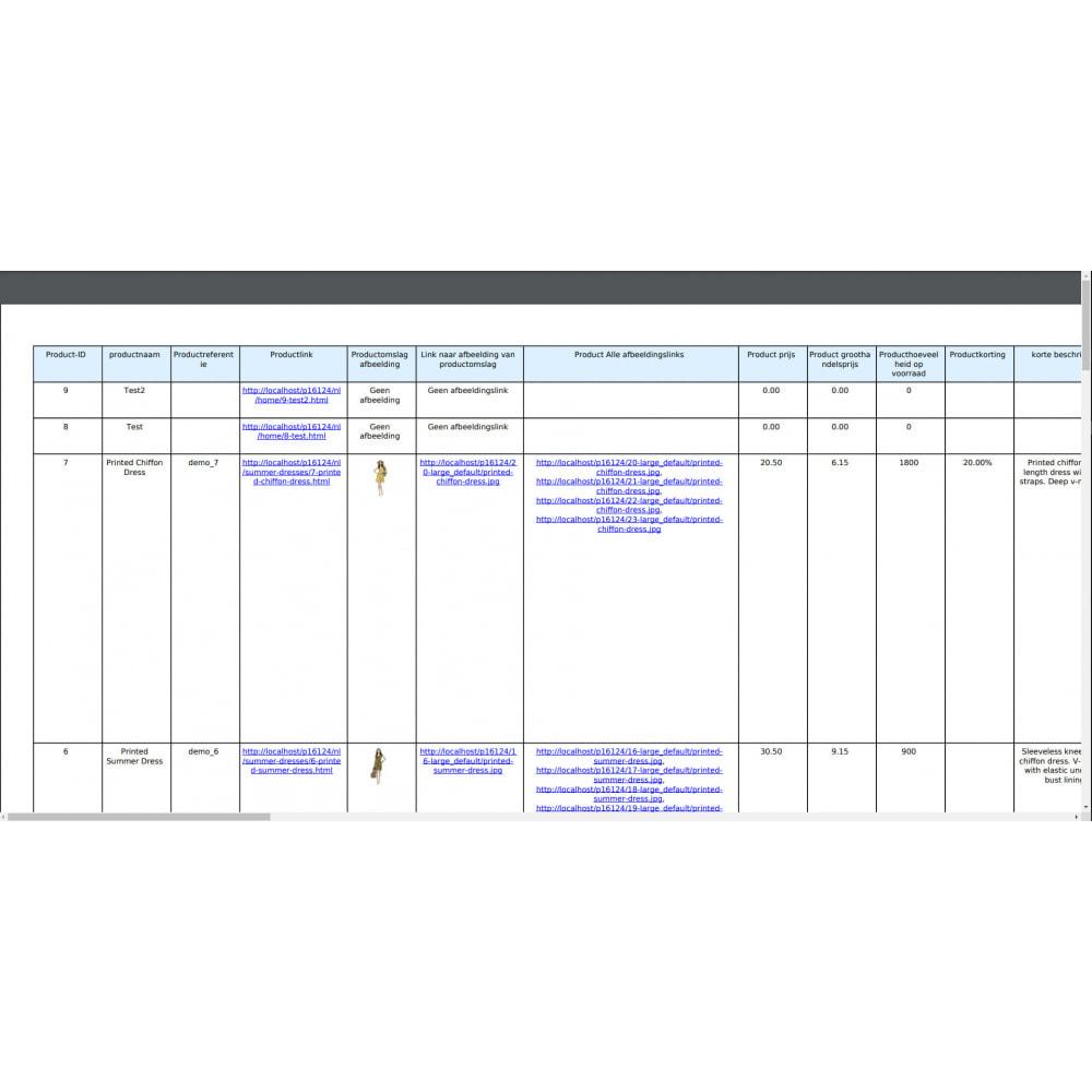 module - Importeren en Exporteren van data - Export van Producten Pro (Excel, CSV, PDF, Email, FTP) - 10