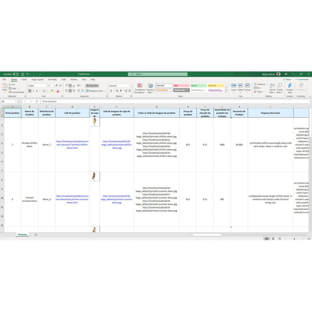 module - Importação & exportação de dados - Exportação Produtos (Excel, CSV, XML, Cron, Email, FTP) - 7