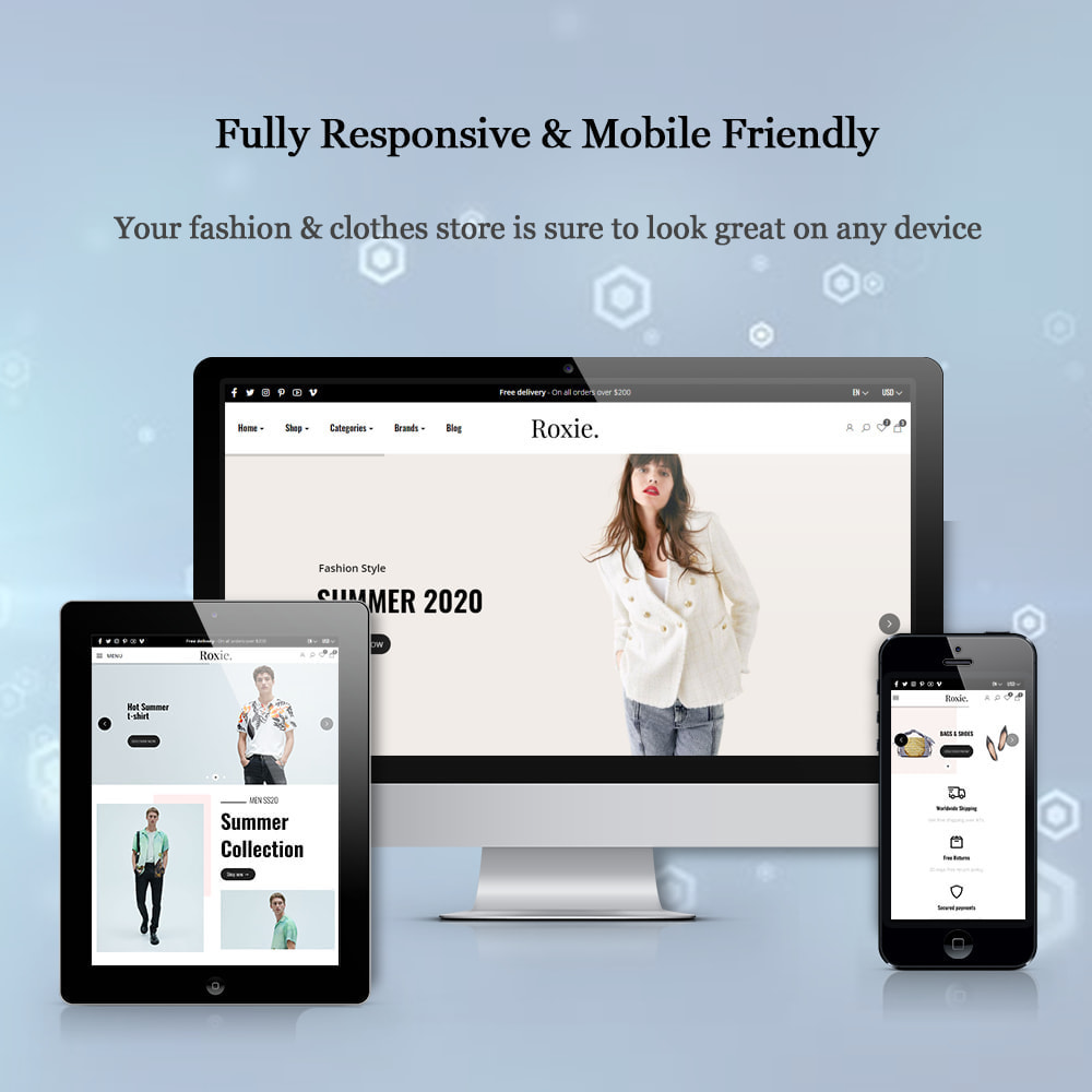 theme - Moda y Calzado - Roxie Minimal Fashion Store - Elementor eCommerce - 2