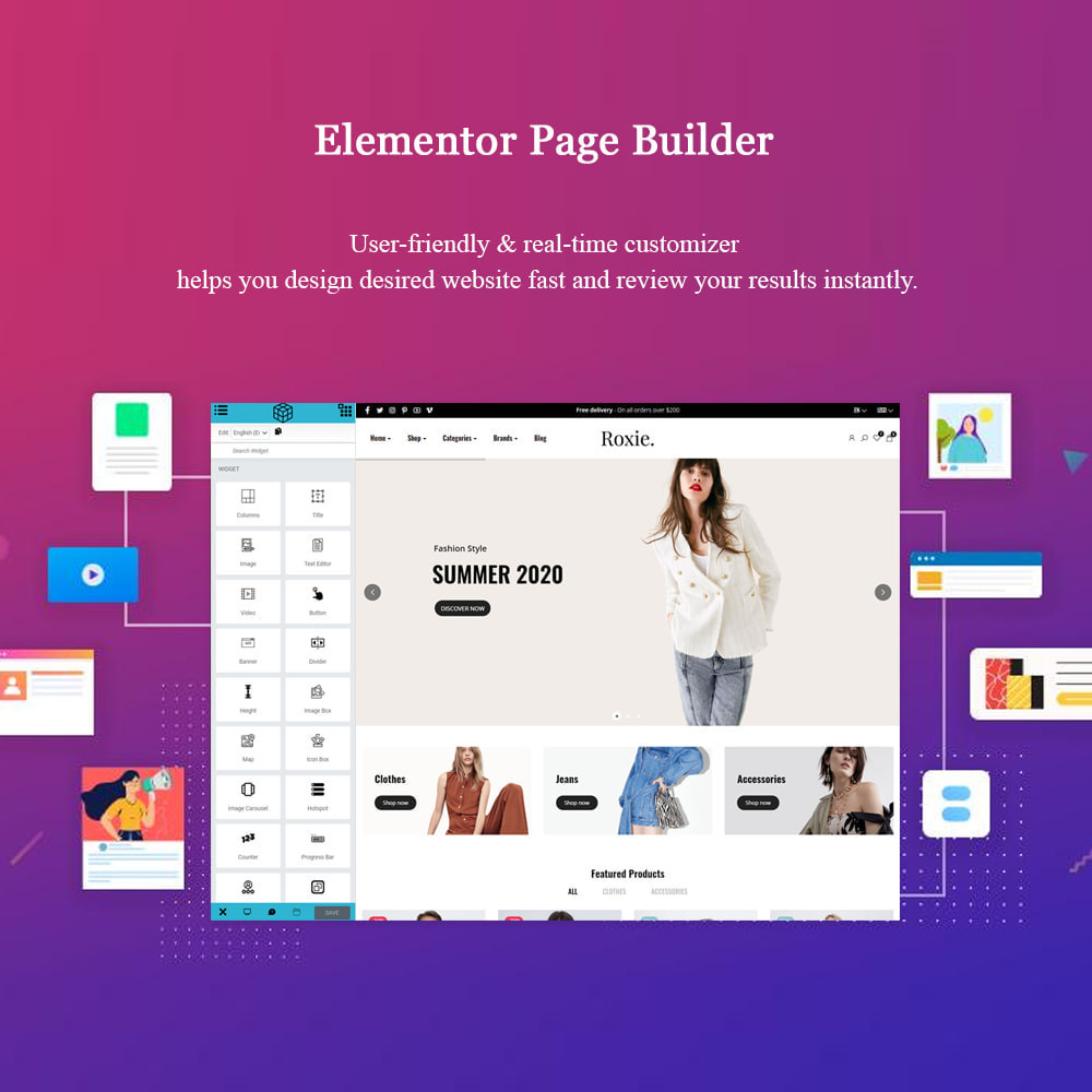 theme - Moda y Calzado - Roxie Minimal Fashion Store - Elementor eCommerce - 3