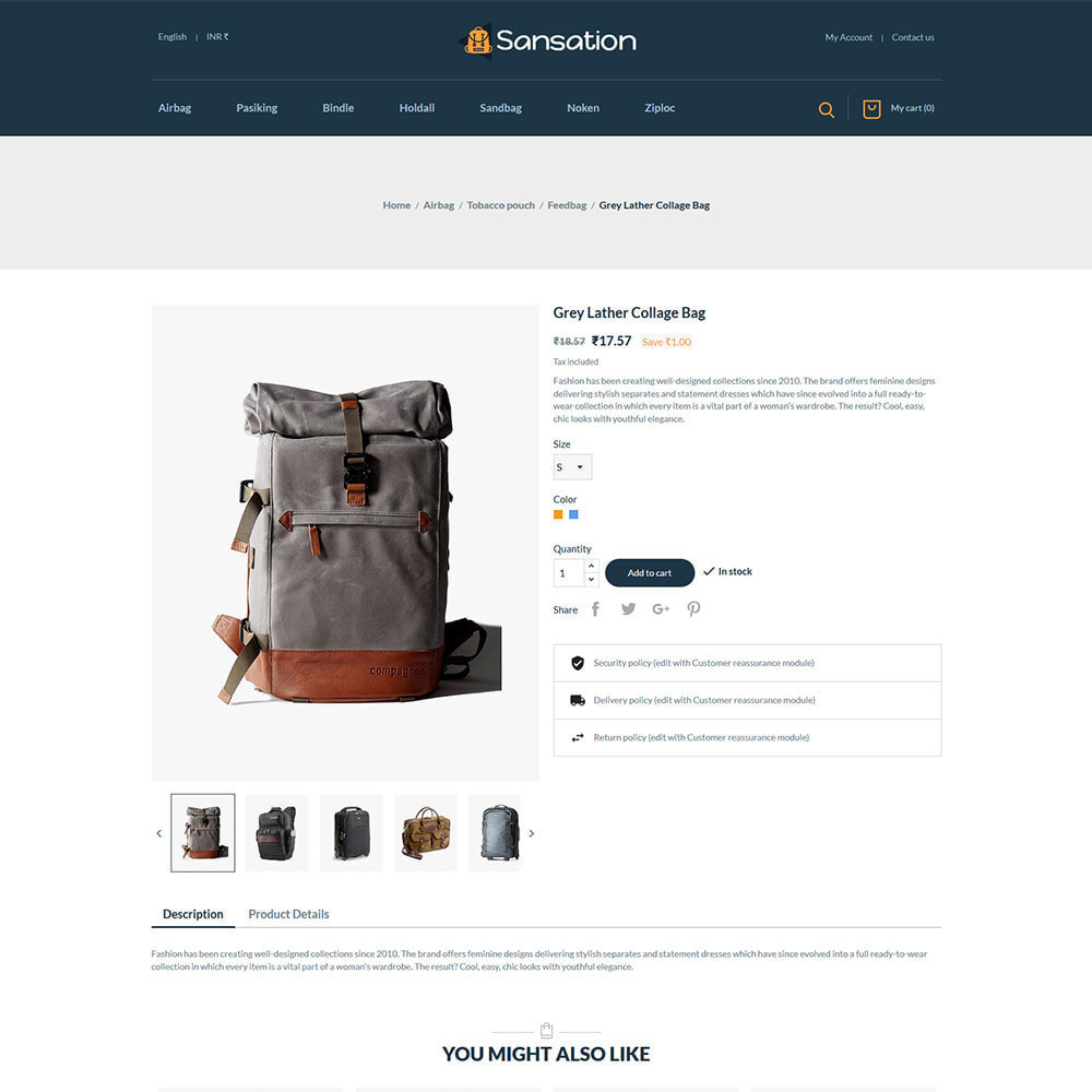 theme - Fashion & Shoes - Sansation Bag - Handbag Leather Fashion Store - 5