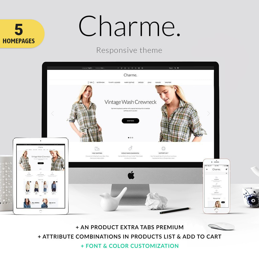 theme - Mode & Chaussures - Charme Fashion Store - 1