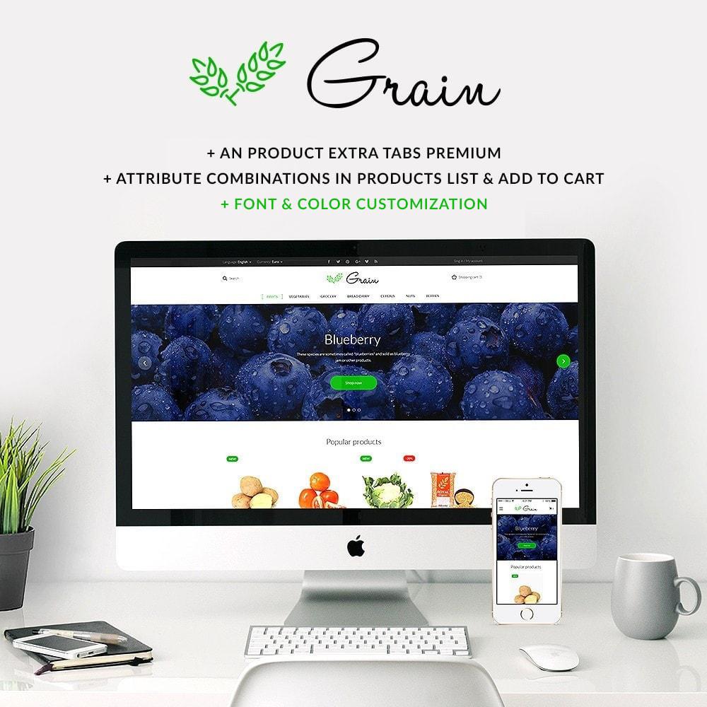 theme - Продовольствие и рестораны - Grain Food Market - 1