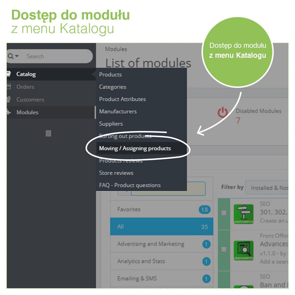 module - Administracja - Copy & Move Products: Zmiana Kategorii Produktów - 7
