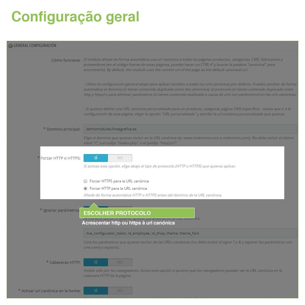 module - Gestão de URL & Redirecionamento - URLs canônicos para evitar conteúdo duplicado - 3
