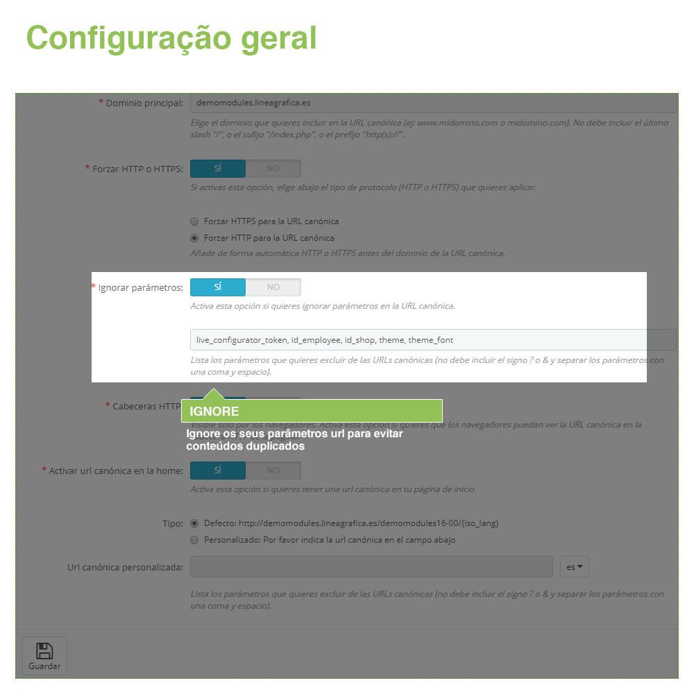 module - Gestão de URL & Redirecionamento - URLs canônicos para evitar conteúdo duplicado - 4