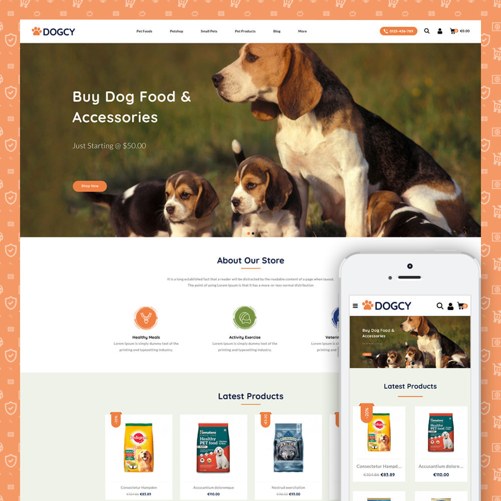 theme - Animais - Dogcy - Pet Food Store - 1