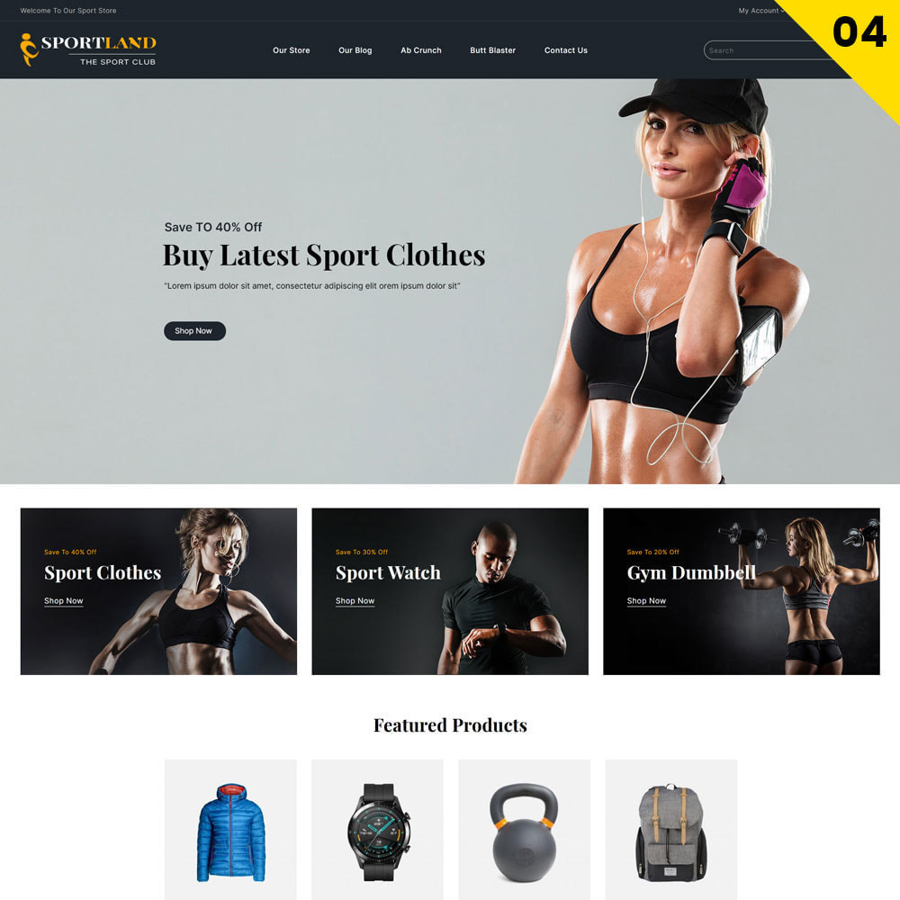 theme - Sports, Activities & Travel - Sport Land - The Mega Sport Store - 6