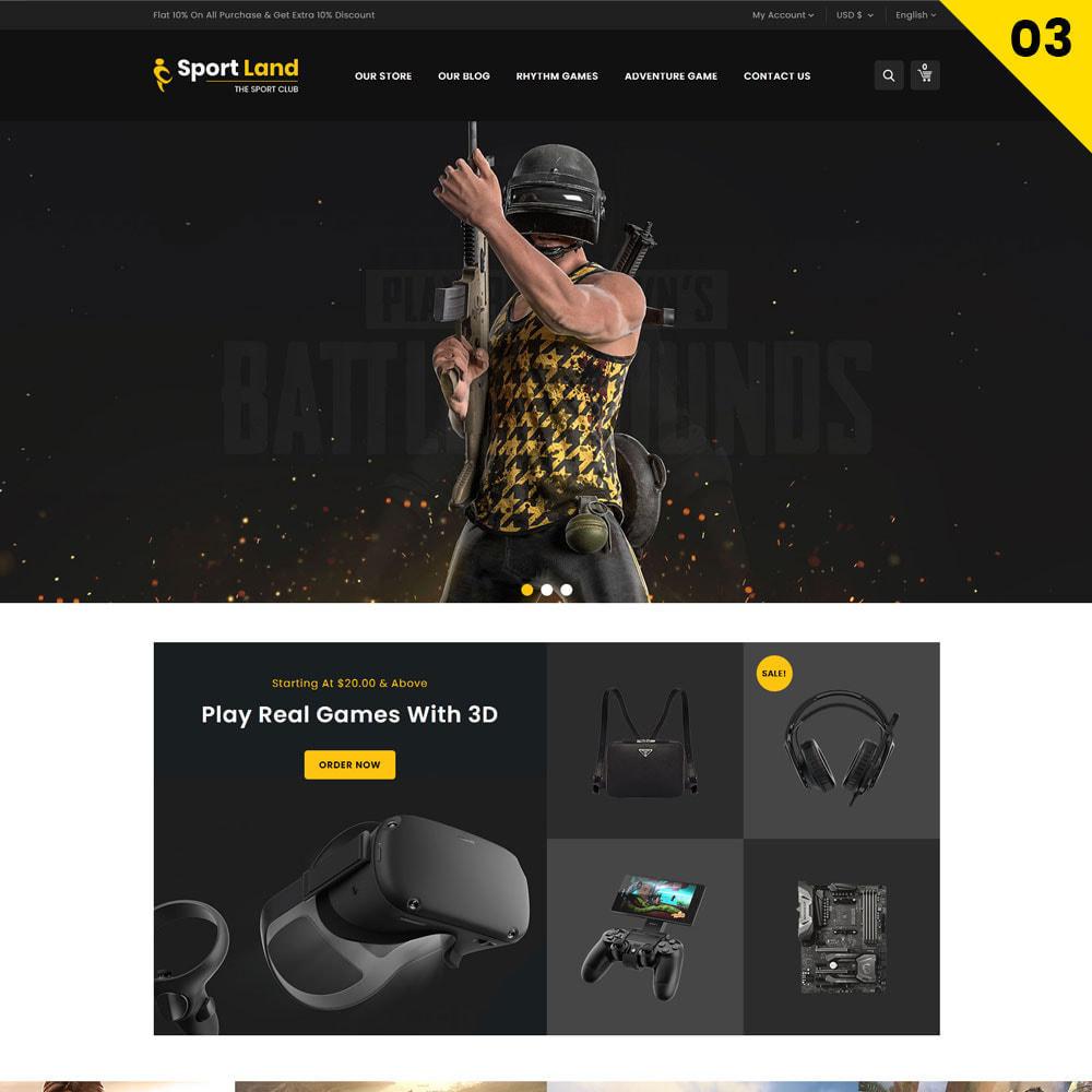 theme - Sport, Loisirs & Voyage - Sport Land - Le magasin de sport Mega - 5