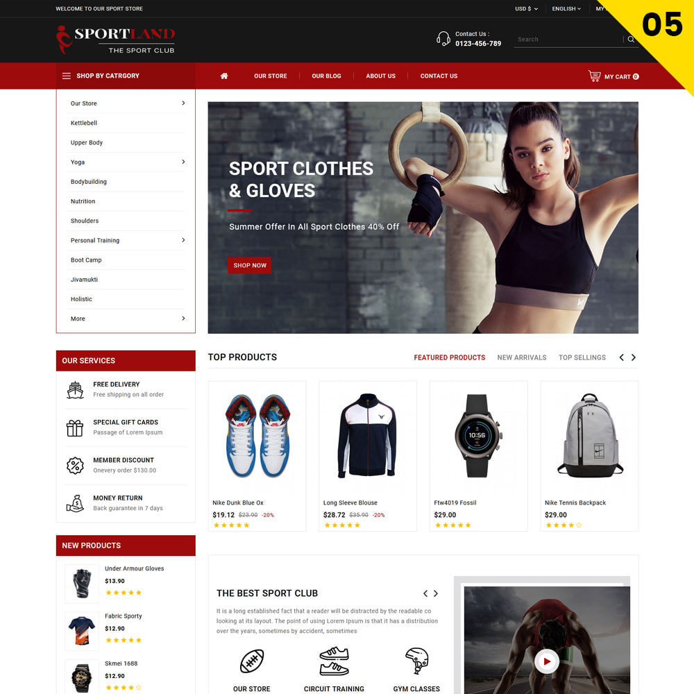 theme - Sport, Attività & Viaggi - Sport Land - Il negozio di articoli sportivi Mega - 7