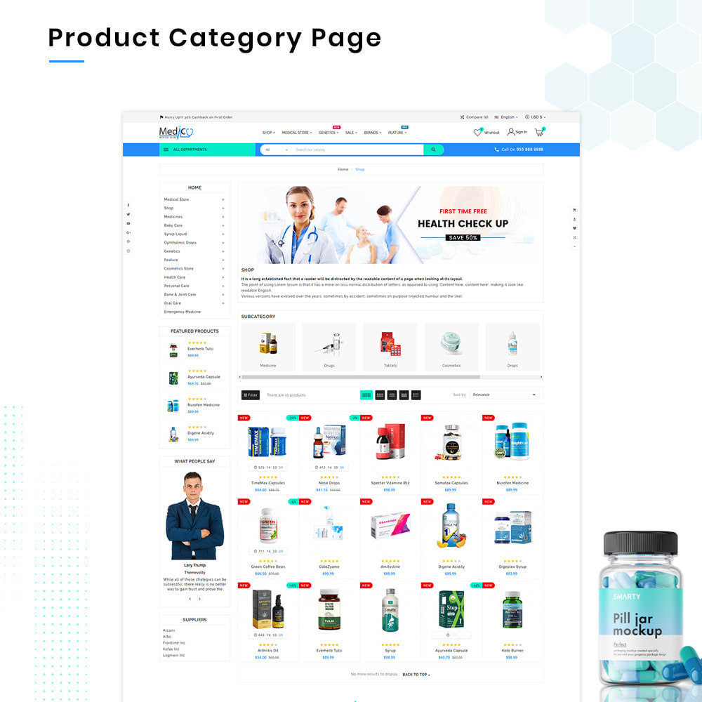 theme - Health & Beauty - Medico Mega Medicine–Drug Pharmacy–Medical Super Store - 3