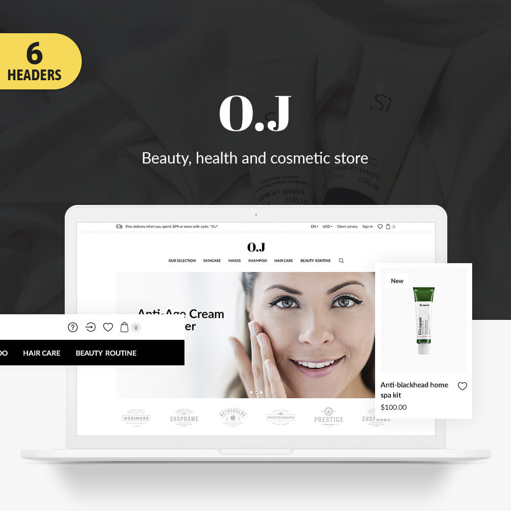 theme - Health & Beauty - O.J. Cosmetics - 1